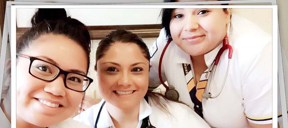 americare nurse students taking a selfie