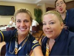 nurse students taking selfie